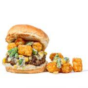 Tater Tot Hotdish Burger