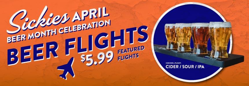 Featured beer flights only $5.99