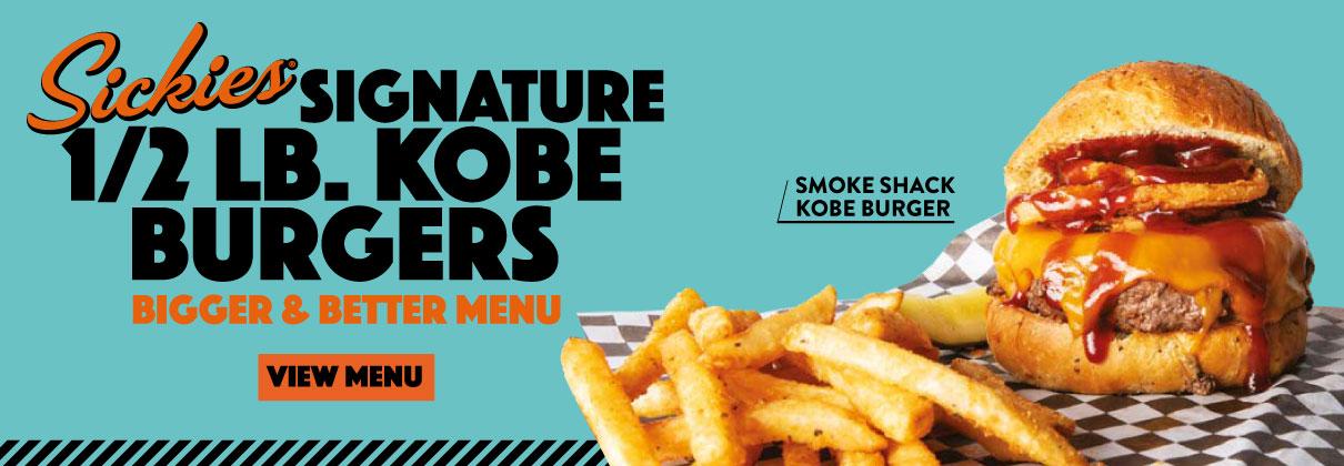 Signature half-pound Kobe burgers