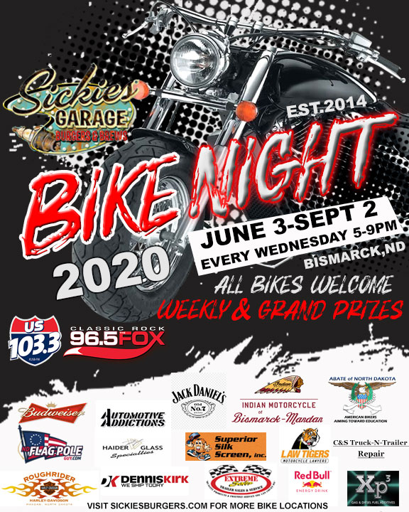 Bismarck bike night poster